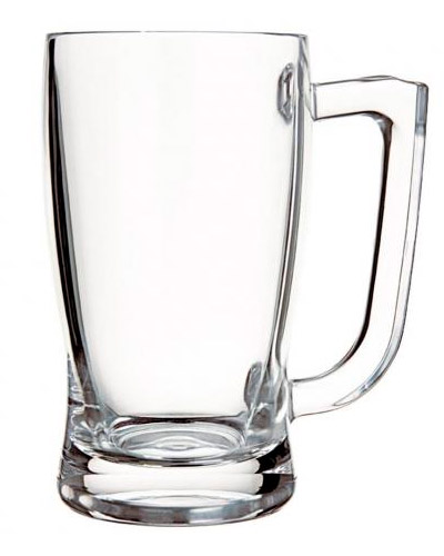 Caneca de Vidro Transparente Personalizada